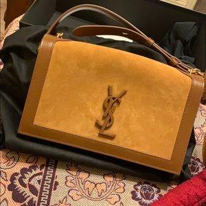 YSL Online exclusive ONLY book bag in beige
